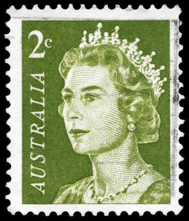 AUSTRALIA - CIRCA 1966: A Stamp printed in AUSTRALIA shows the portrait of a Queen Elizabeth II, series, circa 1966 Stock Photo - 16375837