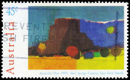 AUSTRALIA - CIRCA 1995: A Stamp printed in AUSTRALIA shows the Skull Springs Country, by Guy Grey-Smith (1916-1981), Landscape paintings series, circa 1995