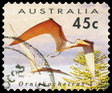 AUSTRALIA - CIRCA 1993: A Stamp printed in AUSTRALIA shows the Ornithocheirus, Dinosaurs series, circa 1993