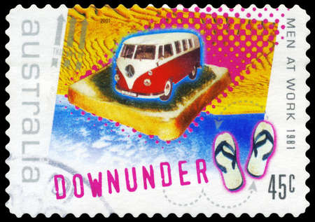 AUSTRALIA - CIRCA 2001: A Stamp printed in AUSTRALIA shows the Image for the Song