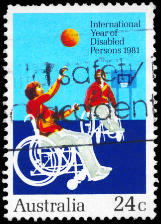 AUSTRALIA - CIRCA 1981: A Stamp printed in AUSTRALIA shows the Disabled Persons, International Year, circa 1981 photo