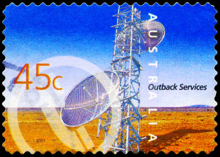 AUSTRALIA - CIRCA 2001: A Stamp printed in AUSTRALIA shows the Telecommunications, Outback Services, series, circa 2001 Stock Photo - 17422830