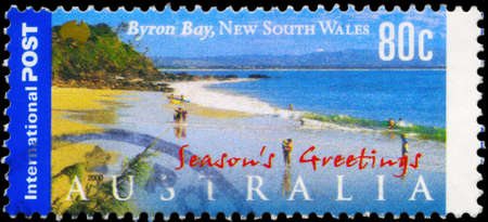 AUSTRALIA - CIRCA 2000: A Stamp printed in AUSTRALIA shows the Byron Bay, New South Wales, series, circa 2000