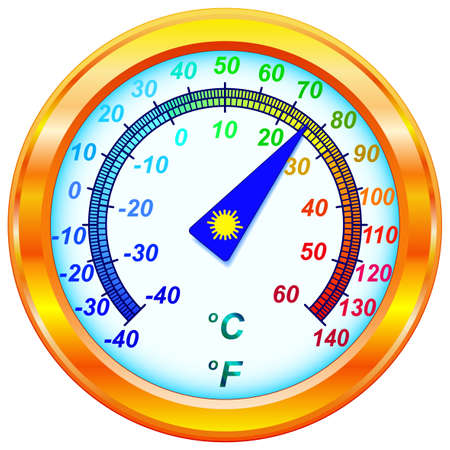 Dial Thermometer for various design Vector