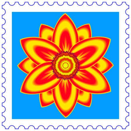 abloom: Resumen de flores en un sello