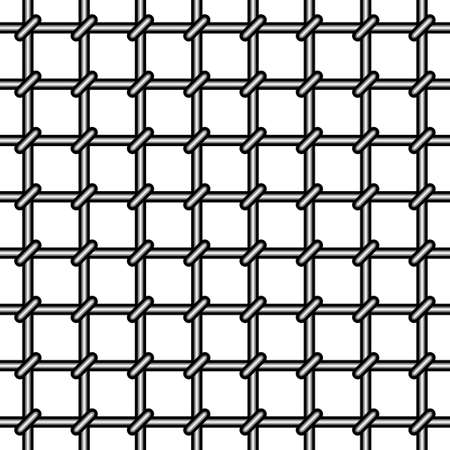 gaol: Grating seamless pattern on white background