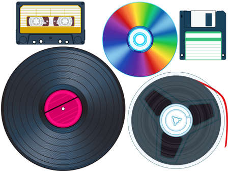 Outmoded Media set for various design Stock Vector - 19615296