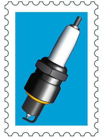 Bujía de un sello de correos