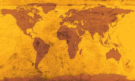 Vintage carte du monde.