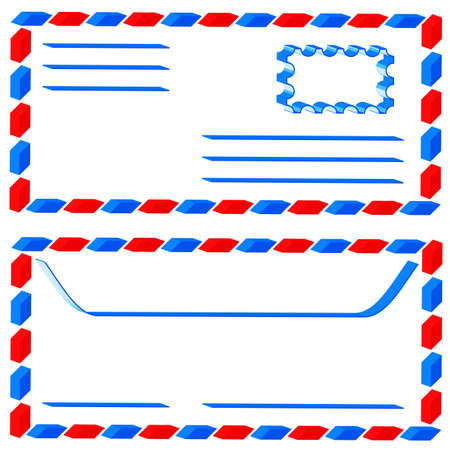 underside: Abstract airmail envelope for various design