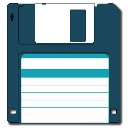 Floppy disk.  Used Drop  Shadow effect.