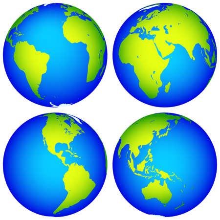 Globe set for various design. Stock Vector - 21319236