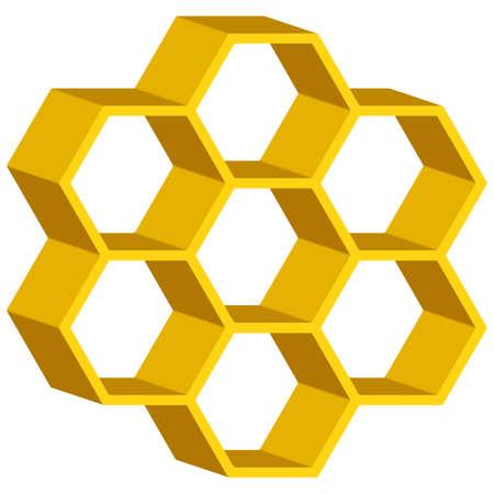 Honeycomb symbol for various design Vector