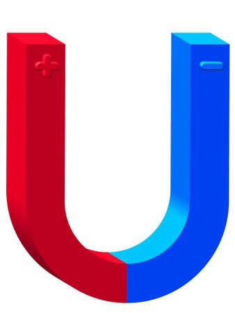magnetization: Magnet icon for various design Illustration