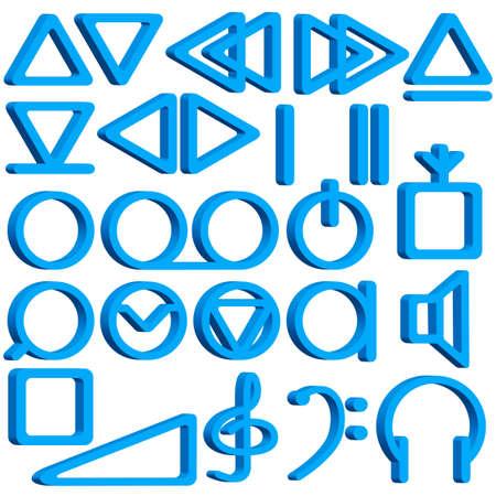 magnetofon: Zbiór symboli magnetofonu