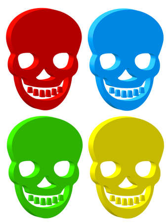 Set of the skull icons Stock Vector - 21319265