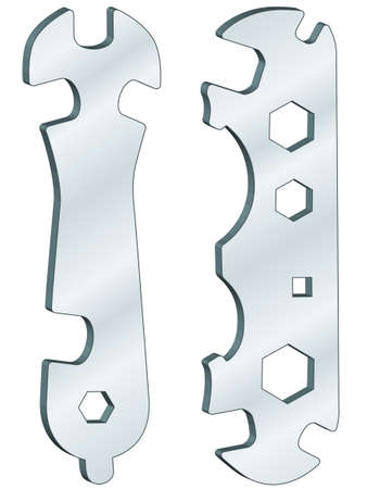 screw key: Universal wrenches for various design