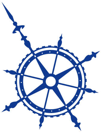 Wind rose symbol for various design Vector