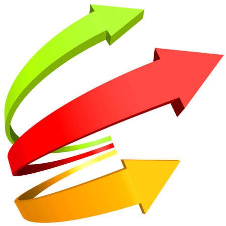 다양한 디자인의 곡선 화살표 일러스트