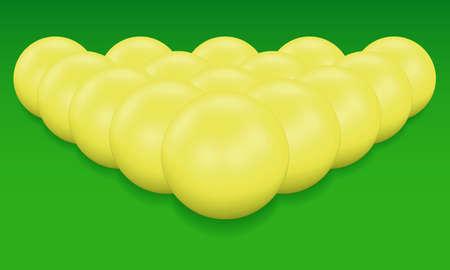 avocation: Billiard balls on green background