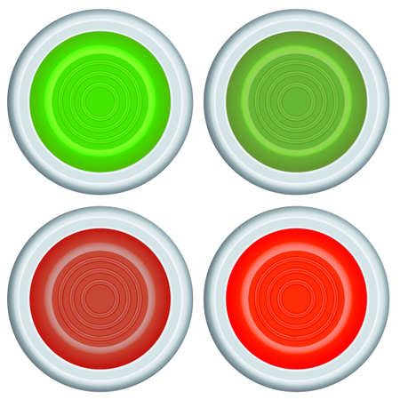 Set of the button icons Vector