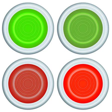 shutdown: Set of the button icons
