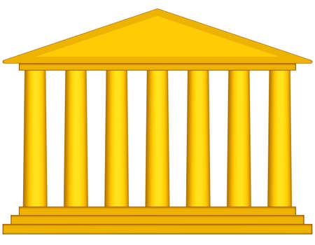 Colonnade portal icon for various design Vector