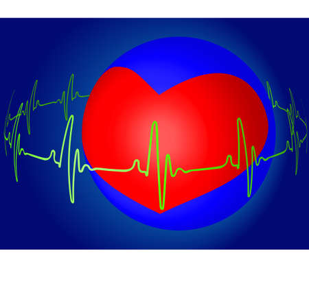 myocardium: Abstract heart beat for various design