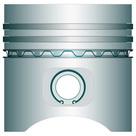 explosion engine: Engine piston icon for various design