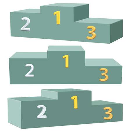 dado: Podium icon set for various design