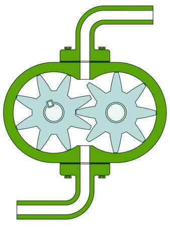 inflating: Gear pump icon for various design