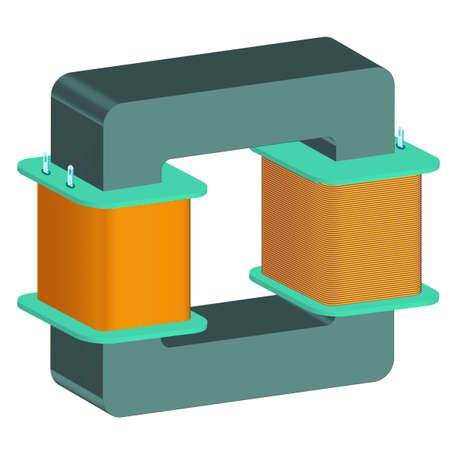 Transformator icoon voor verschillende design Stock Illustratie