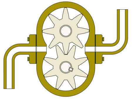 Tandwielpomp voor verschillende design Vector Illustratie