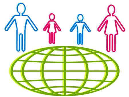 demografia: La gente y los iconos del mundo para el diseño de infografías