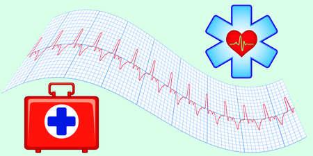 Set of medical aid elements Vector