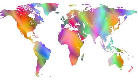 motley: Motley mappa del mondo.