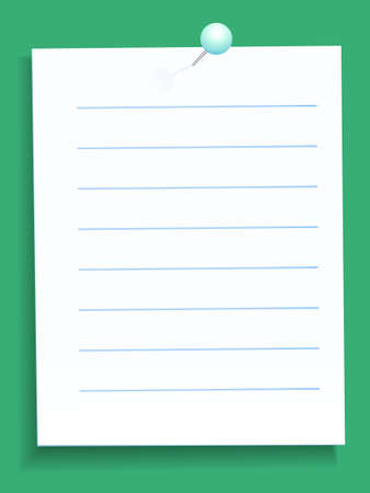 Note paper fixed with a pin Vector