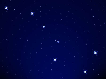astral: Big Dipper on the starry sky Illustration