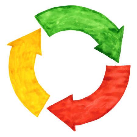 Circular arrows for various design