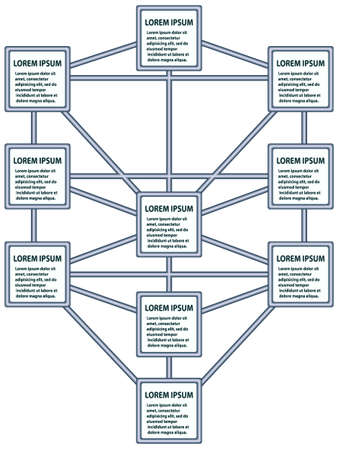 Diagram in the form of the tree of life Vector