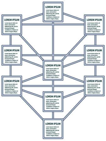 Wykres w postaci drzewa życia Ilustracje wektorowe