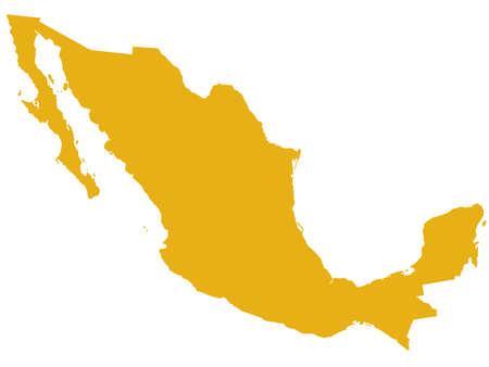 メキシコのシルエット マップ。