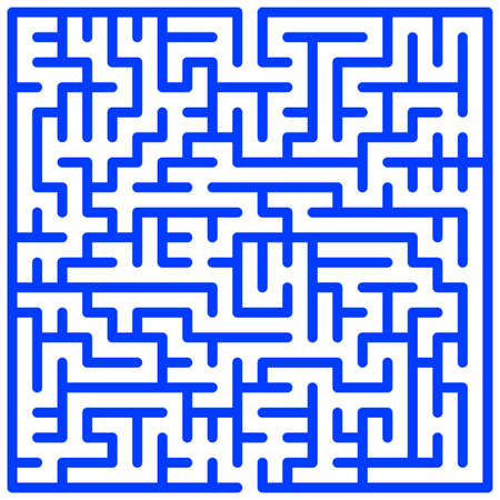 brainteaser: Illustration of the maze pattern Illustration