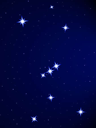 cielo estrellado: Constelaci�n de Ori�n en el cielo estrellado
