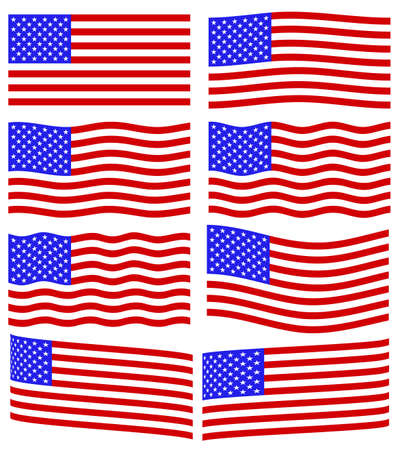 Flag collection of the United States of America Vector