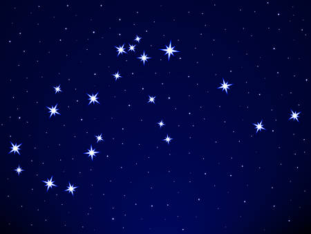 asterism: Aquarius constellation on the starry sky