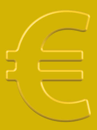 profusion: Euro symbol on the gold background