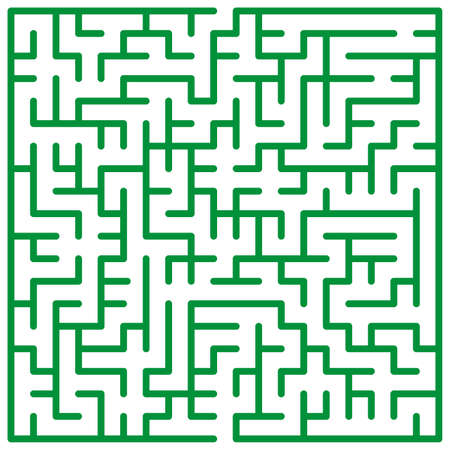 admittance: Illustration of the maze for leisure  Illustration