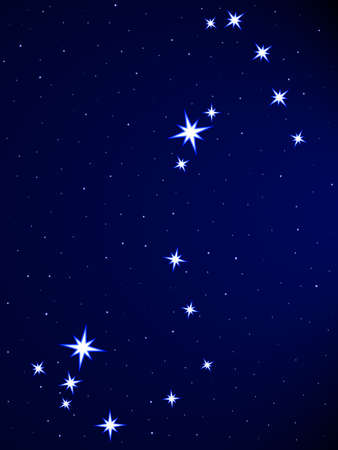 Scorpius constellation on the starry sky Stock Vector - 25202010