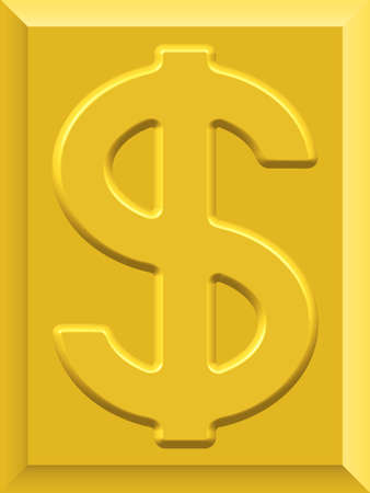profusion: US Dollar on gold plate